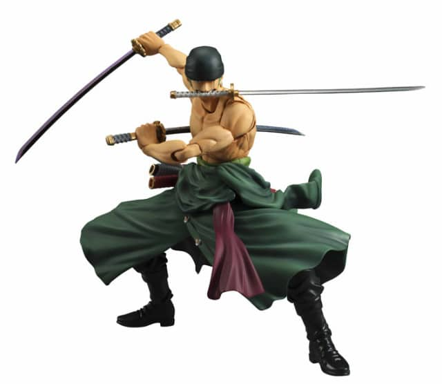 Figurine d'action articulée de Roronoa Zoro (collection Variable Action Heroes)